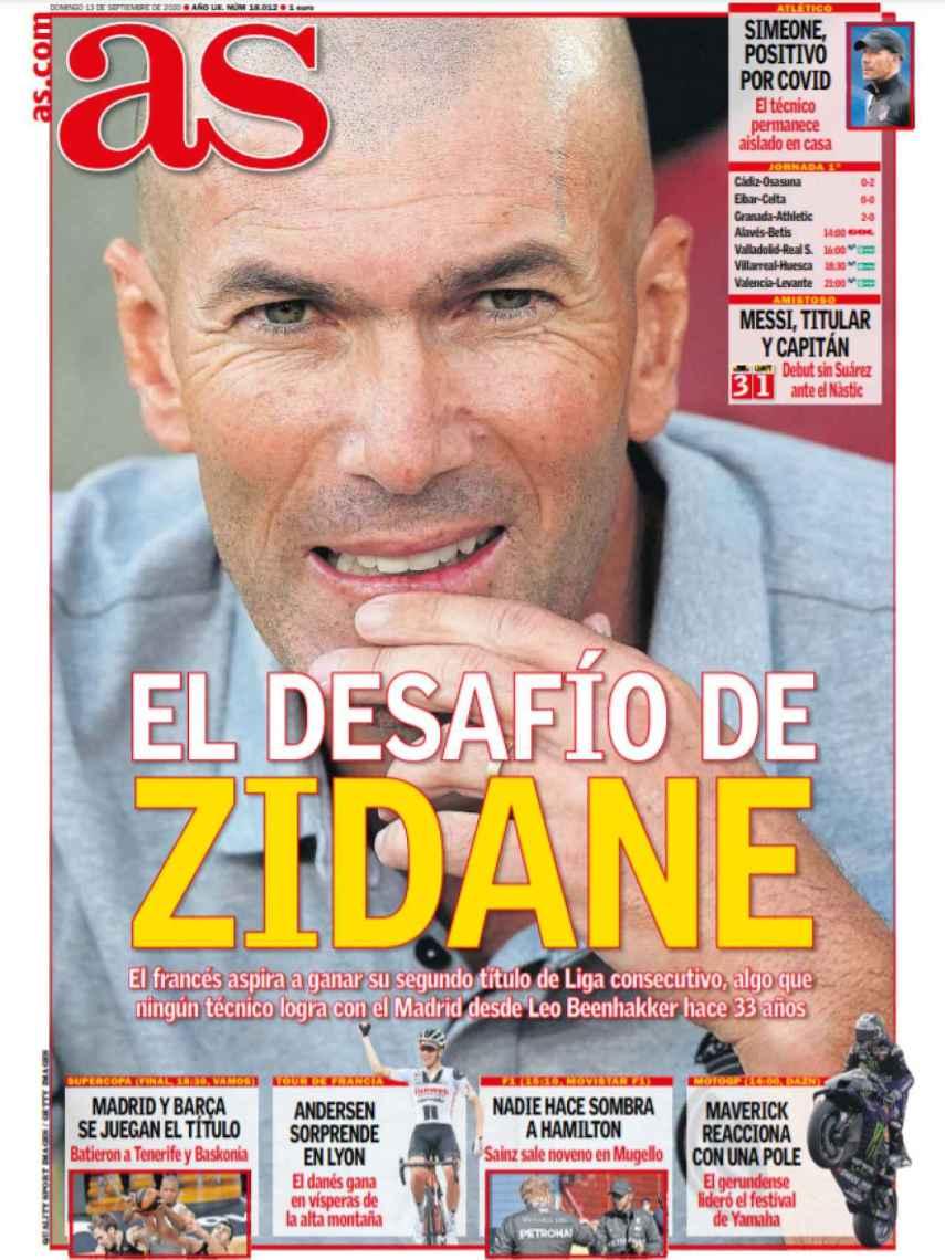 La portada del diario AS (13/09/2020)