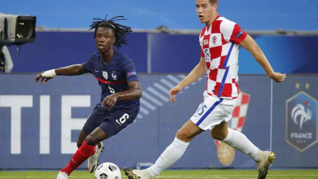 Camavinga durante un partido de Francia contra Croacia