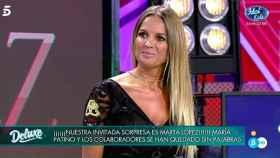 Marta López durante su regreso a 'Sábado Deluxe'.