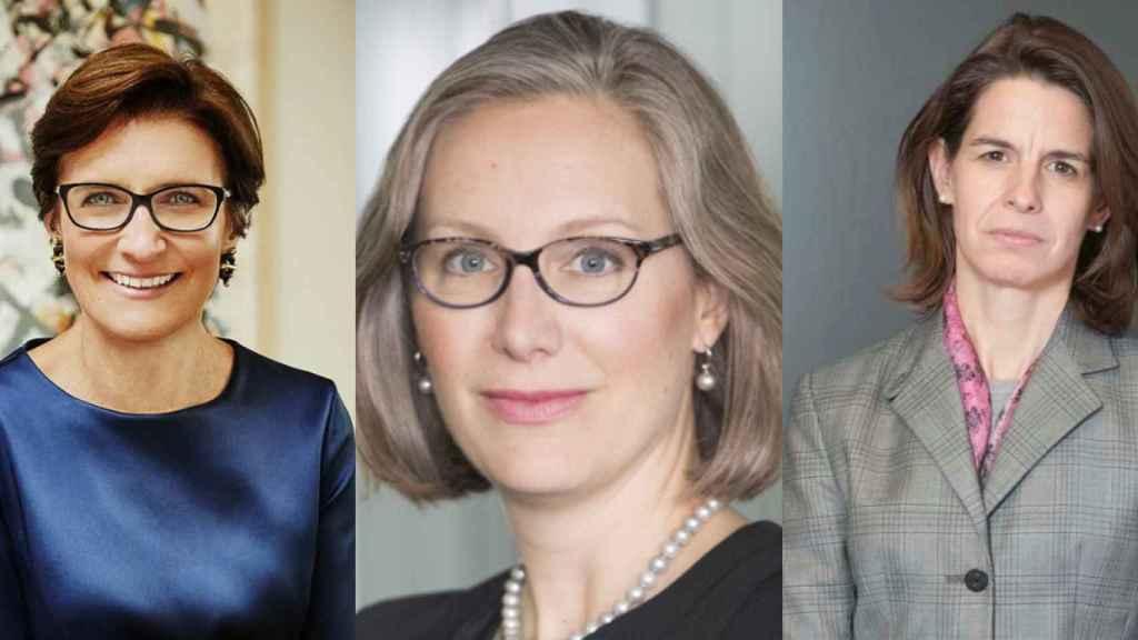 Las ejecutivas de Citi Jane Fraser, Kristine Braden y Leslie Rubio.