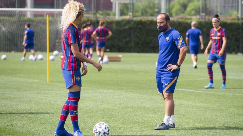 Entrenamiento del FC Barcelona Femenini