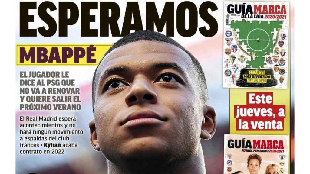 La portada del diario MARCA (14/09/2020)