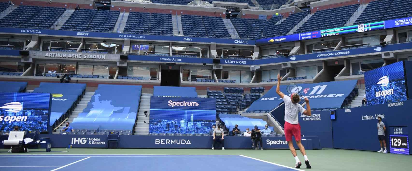 Alexander Zverev, durante el US Open 2020