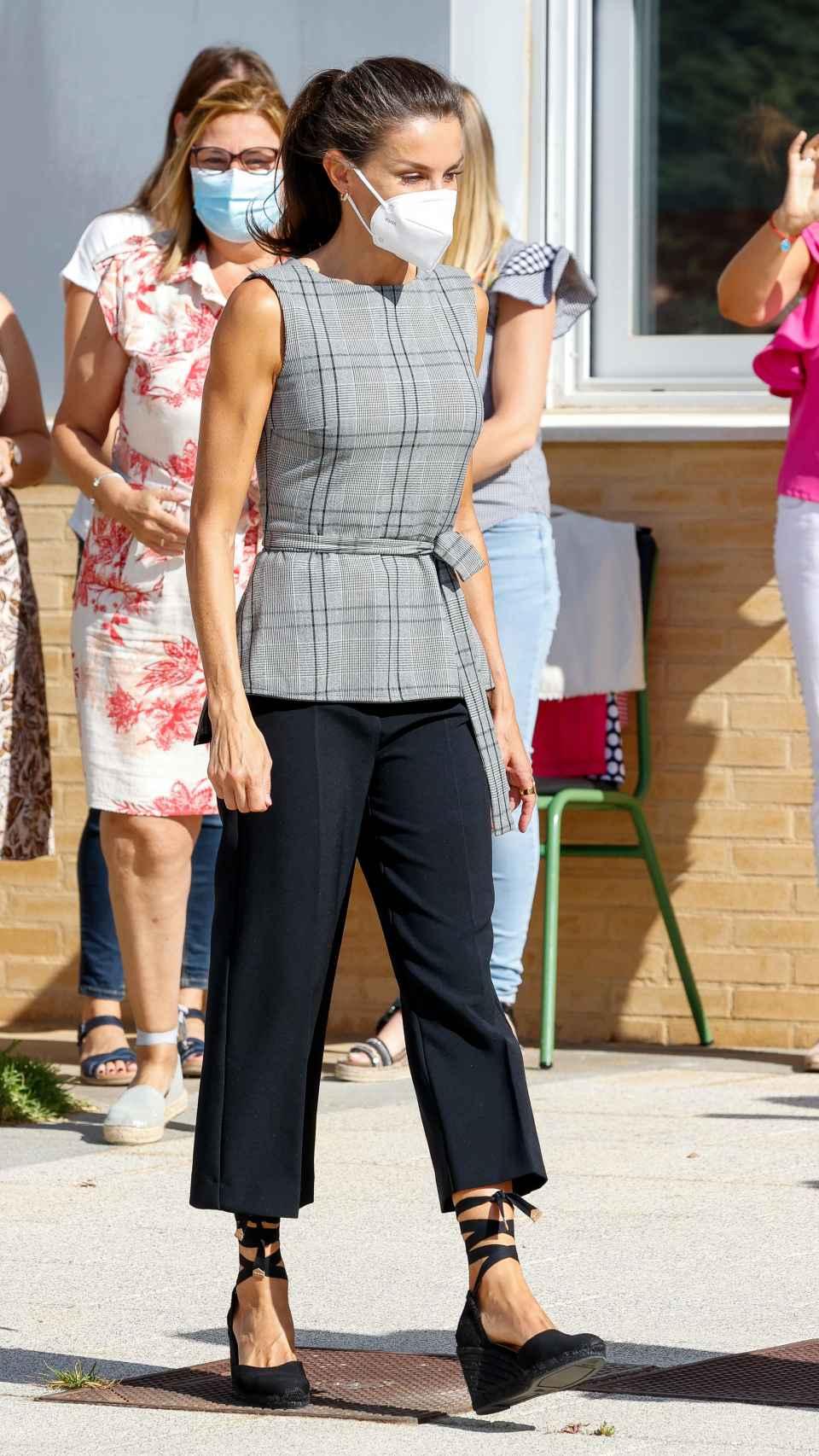 La reina Letizia en la apertura del Curso Escolar 2020-2021 en Navarra.