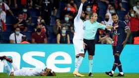 Dimitri Payet, Jordan Amavi y Neymar Jr