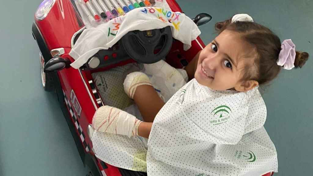 Carlota en el hospital