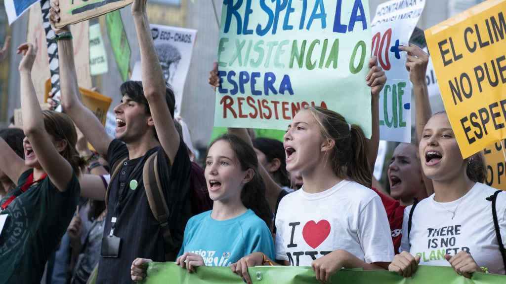 Foto de archivo de la huelga estudiantil por el clima del pasado 27 de septiembre de 2019.