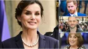 La reina Letizia, Harry de Inglaterra, Tom Hardy y Carmen Maura en montaje de JALEOS.