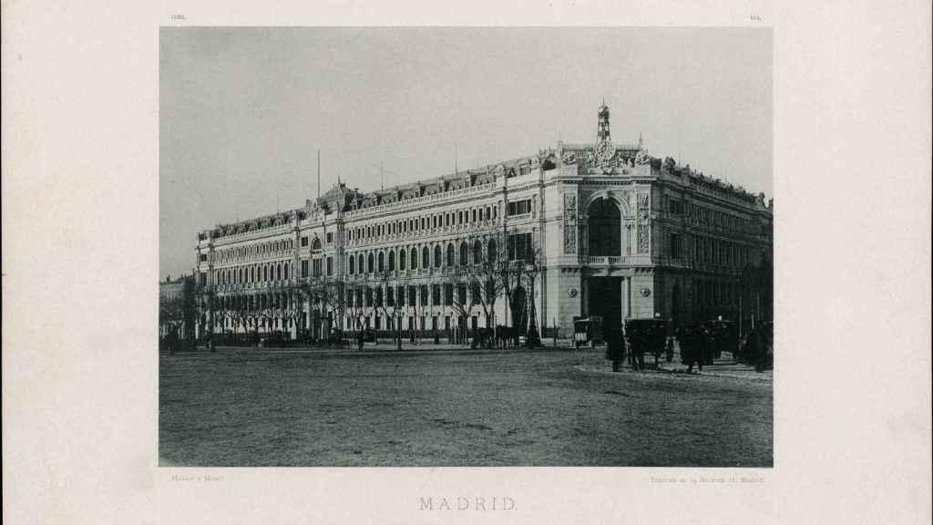 Imagen del Banco de España a finales del siglo XIX.