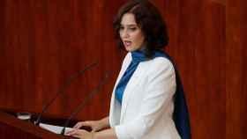 Isabel Díaz Ayuso durante el debate de la región.