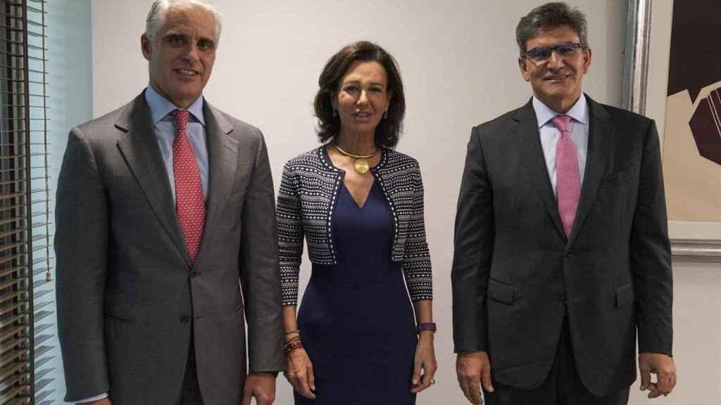 Ana Botín, José Antonio Álvarez y Andrea Orcel.