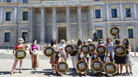 Imagen de archivo de la Alianza Contra el Borrado de Mujeres frente al Congreso.