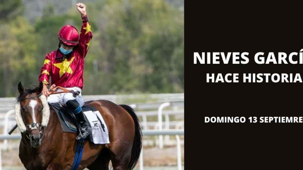La 'jockey' sevillana Nieves García.
