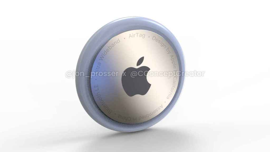 Rendered image of what an Apple AirTag would look like
