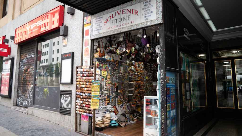 Una tienda de souvenirs, en Madrid.