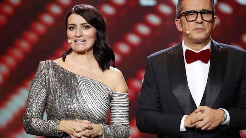 Silvia Abril y Andreu Buenafuente presentando la gala de los premios Goya.