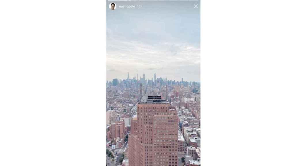 Vistas a la ciudad de Nueva York desde el salón de Nacho Polo.