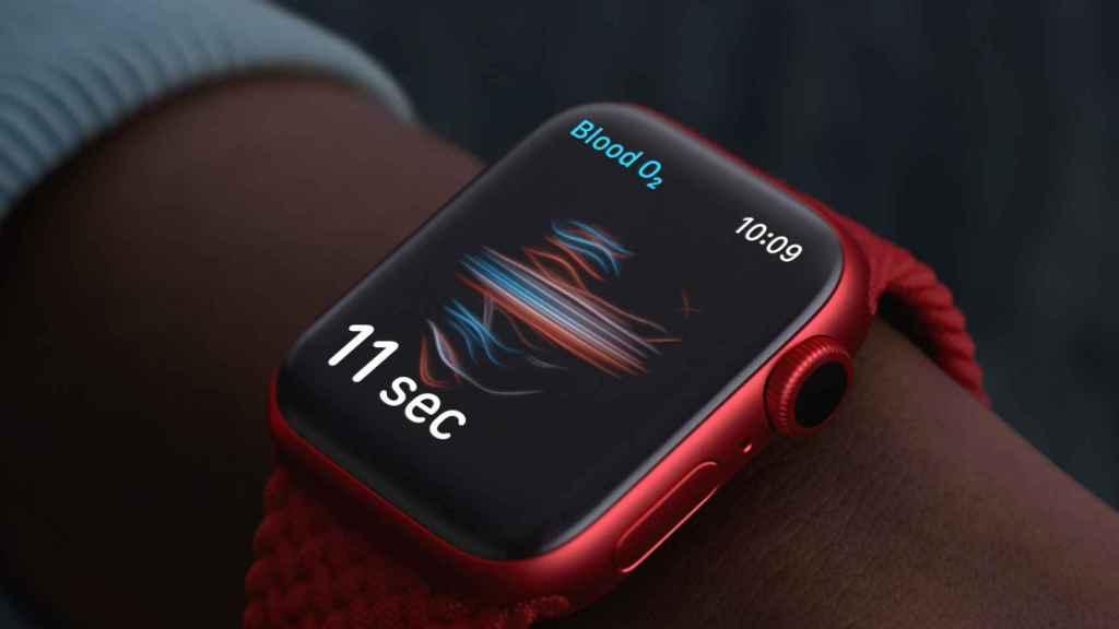 Medición de oxígeno en Apple Watch Series 6