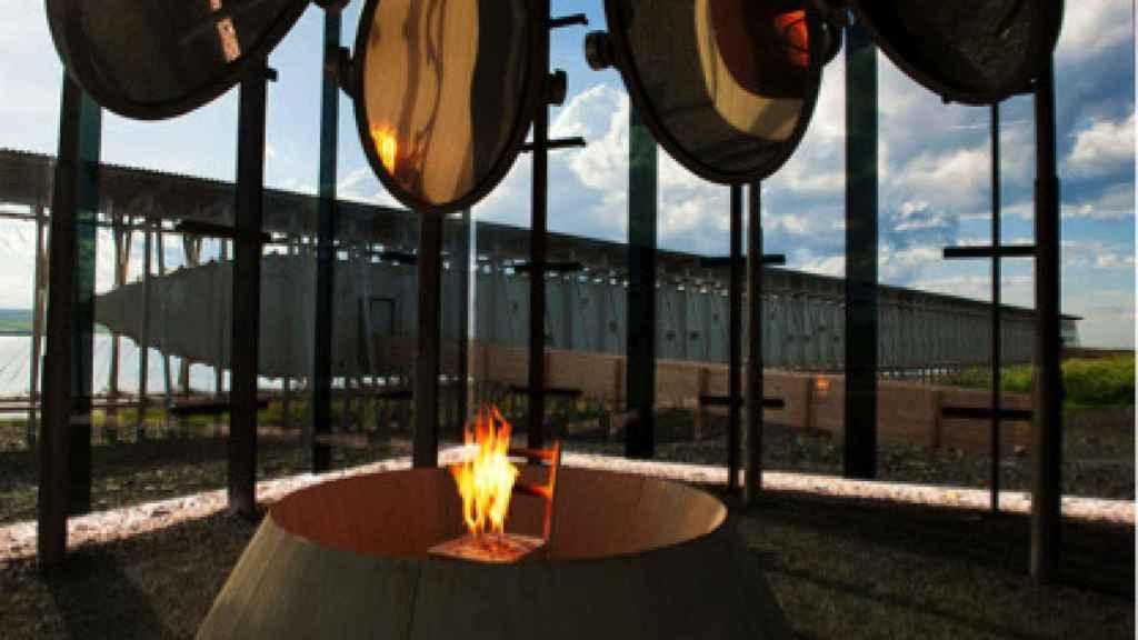 Imagen del Memorial por la quema de 91 brujas.