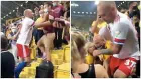 Un futbolista salta a la grada en Alemania y se pega con los aficionados locales