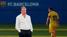 Koeman y Leo Messi