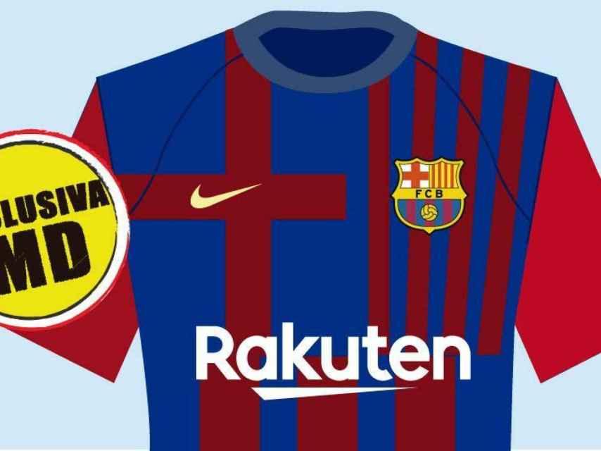 Diseño de la equipación del Barcelona para la 2021/2022