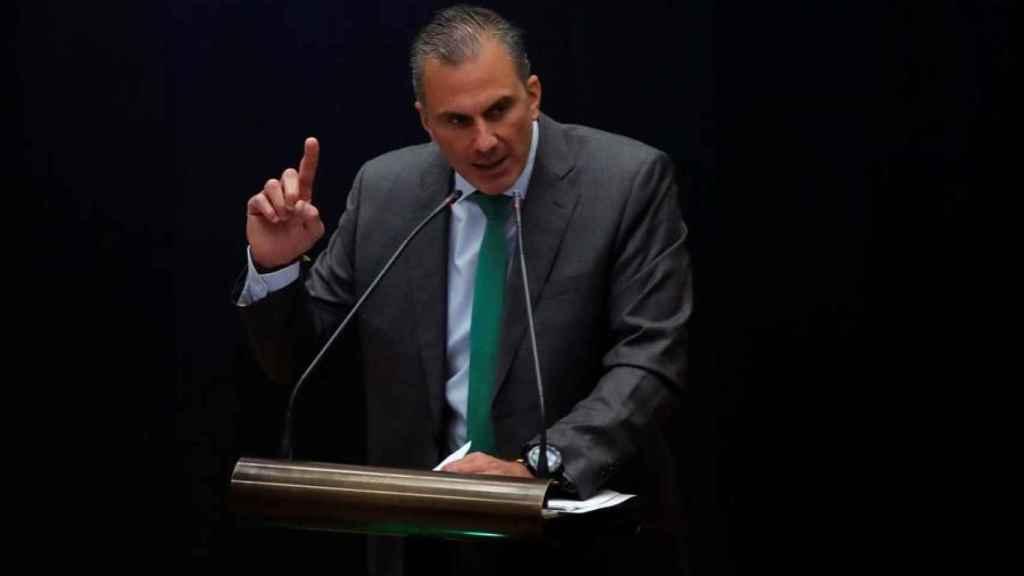 Ortega, el pasado día 9 en el debate del Ayuntamiento de Madrid sobre el estado de la ciudad./