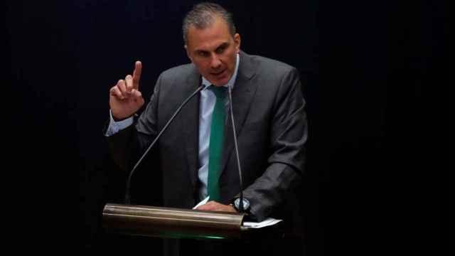 Ortega, en una intervención en el Ayuntamiento de Madrid./