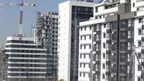 imagen de archivo de una promoción de viviendas en construcción.