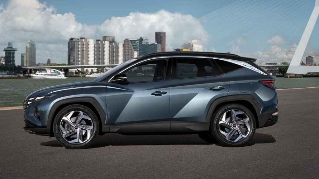 Vista lateral del nuevo Hyundai Tucson de 2021.