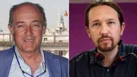 José Manuel Soto y Pablo Iglesias en un fotomontaje.