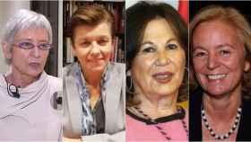 Soledad Luca de Tena, Carmen Serra, Blanca García Montenegro y Catalina Luca de Tena.