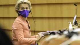 Ursula von der Leyen, este miércoles durante el debate sobre el estado de la Unión