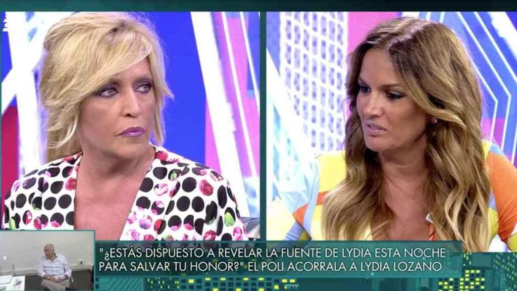 Marta López y Lydia Lozano en 'Sálvame'.