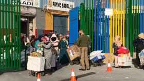 Porteadores en la frontera marroquí con España.