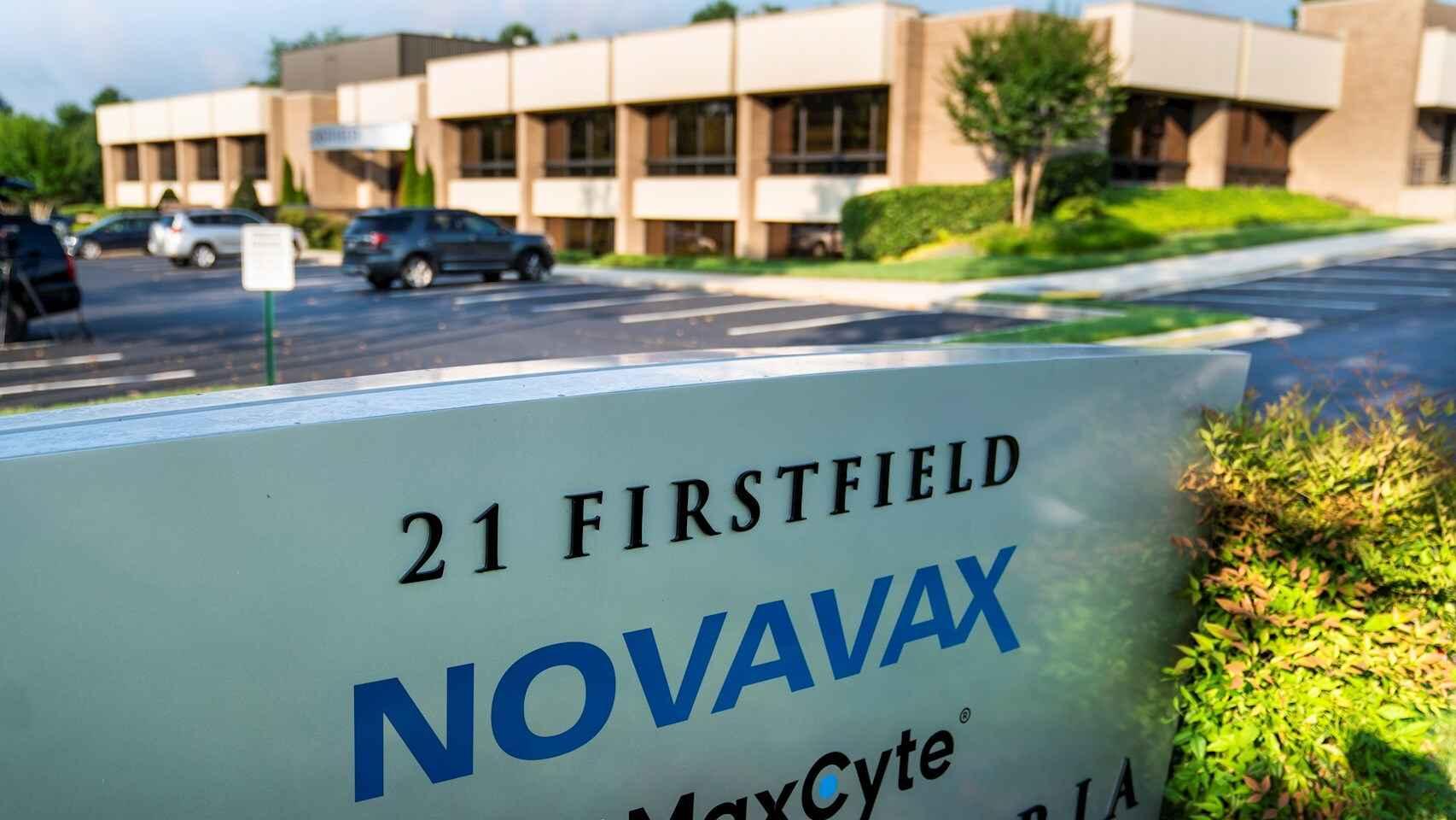 La sede estadounidense de Novavax. EFE/EPA/JIM LO SCALZO