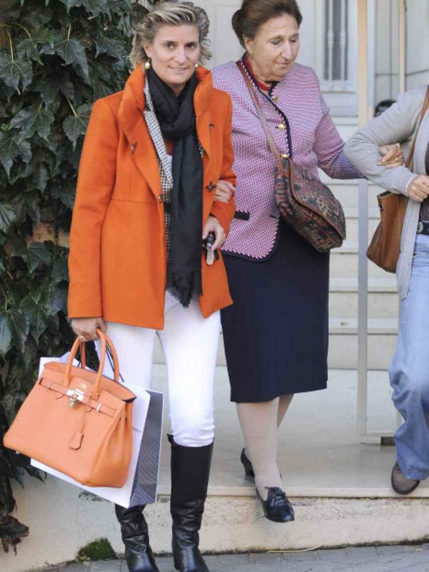 María Zurita y la infanta Margarita, en una imagen de archivo.