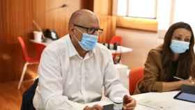 José Ruiz, director institucional de Mercadona en CLM, y Natalia Castrillo, directora provincial en Toledo, en la reunión con Ciudadanos