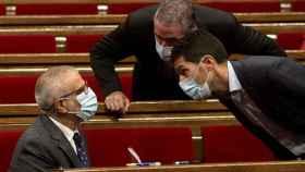 Carlos Carrizosa, Jorge Soler y Nacho Martín Blanco, diputados de Cs en el Parlament.