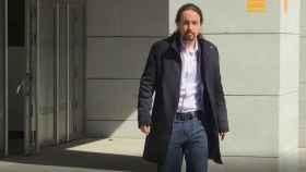 Pablo Iglesias, tras comparecer en la Audiencia Nacional./