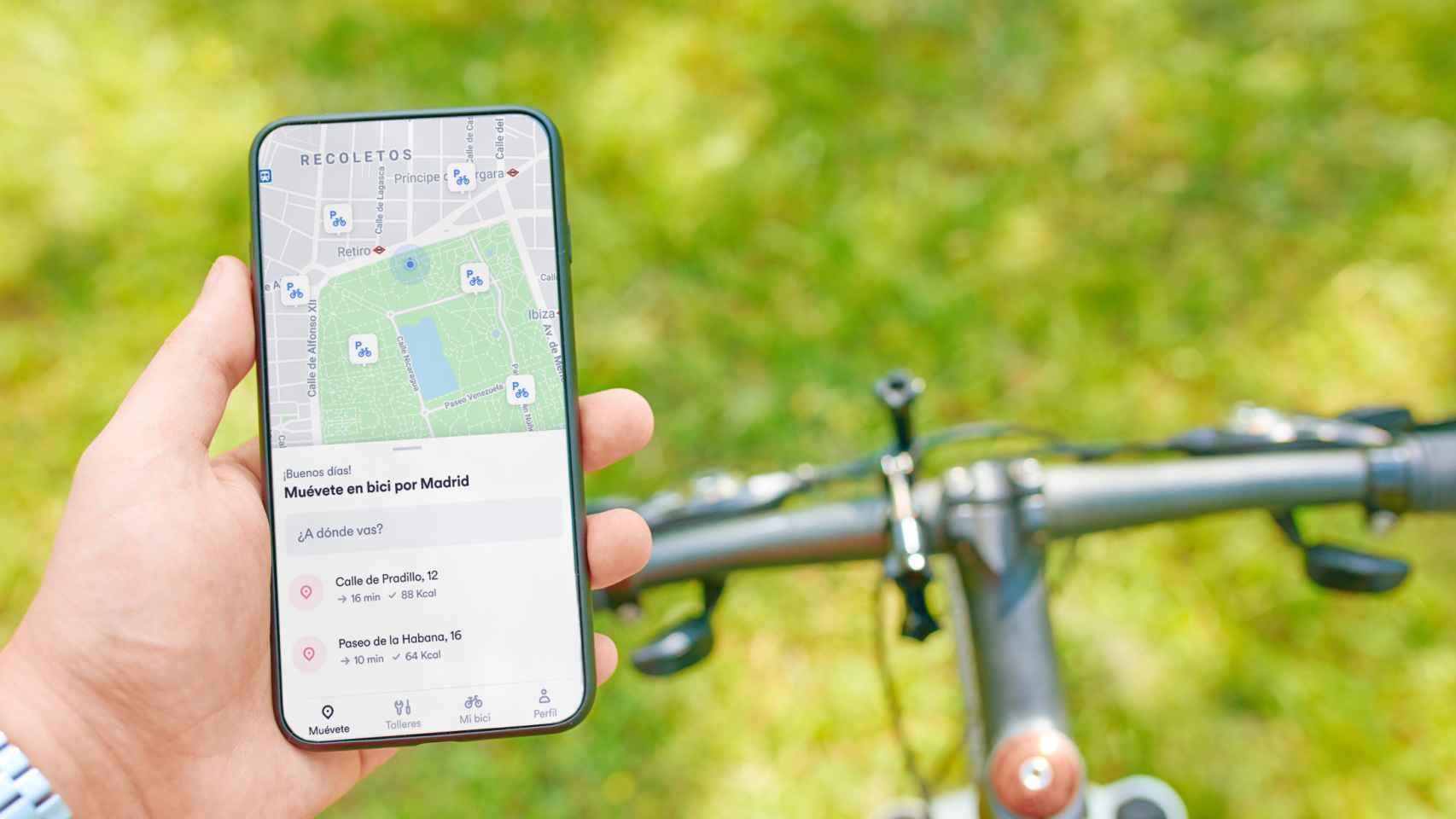 Imagen de la aplicación de Bive, el nuevo servicio de suscripción centrado en las bicicletas de Cabify.