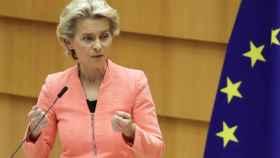 Ursula von der Leyen, durante un discurso sobre el estado de la Unión.