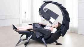 La silla gaming Cluvens Scorpion es capaz de transformarse