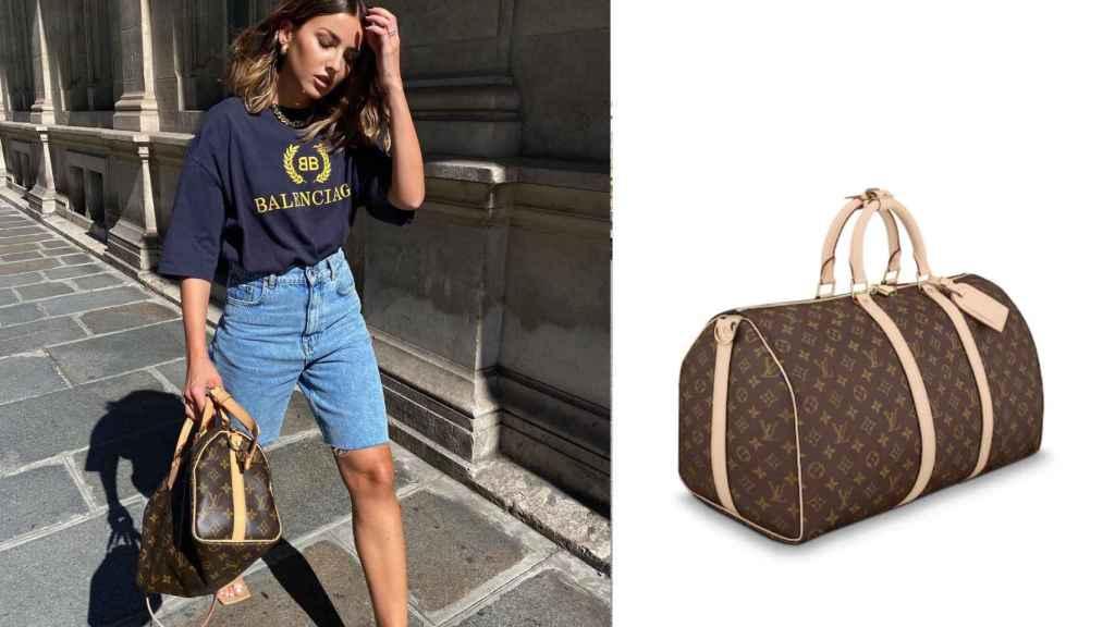 Alexandra Pereira también apuesta por llevar las maletas de Louis Vuitton.
