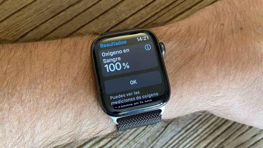 El Apple Watch Series 6 midiendo el oxígeno en sangre.