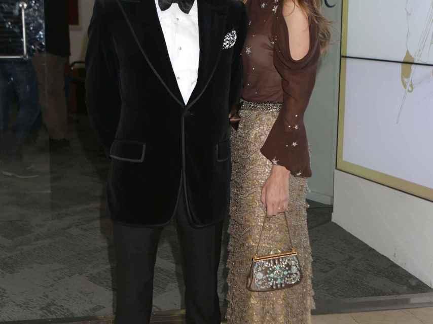 Paloma Cuevas y Enrique Ponce durante una gala en 2016.