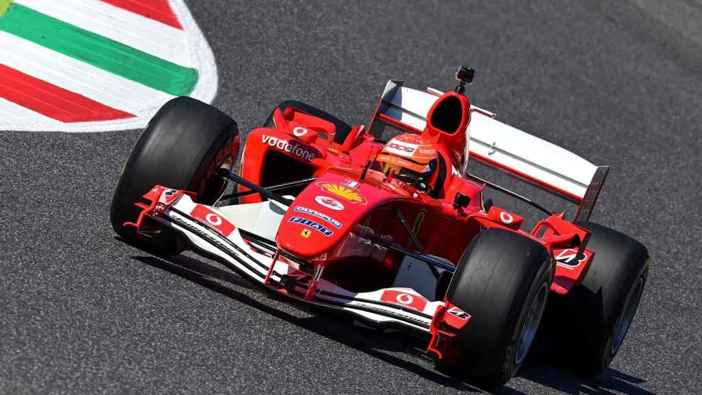 Mick Schumacher pilotando el F2004 en Mugello