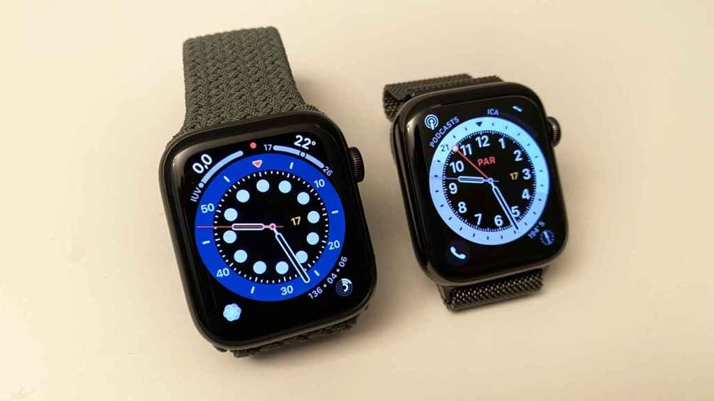 Apple Watch SE (i) y Series 6 (d)