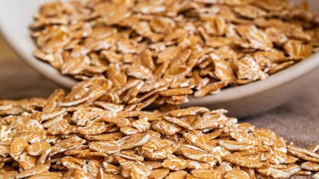 Escamas de cereal.