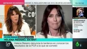 Helena Resano junto a Mamen Mendizábal en 'Más vale tarde'.